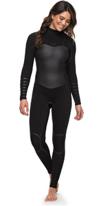 Roxy Womens Syncro Plus 4/3mm Chest Zip Wetsuit Black ERJW103030