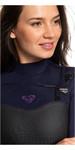 2019 Traje De Neopreno Con Chest Zip Mujer Roxy Performance 4/3mm Deep Indigo / Dark Violet Erjw103032