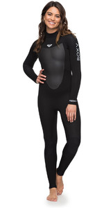 Roxy Womens Prologue 4 / 3mm volta Zip Wetsuit Preto ERJW103039