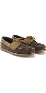 Henri Lloyd Arkansa Zapato De Cubierta Marrón Oscuro / Marrón Nubuck / Caramelo F94412