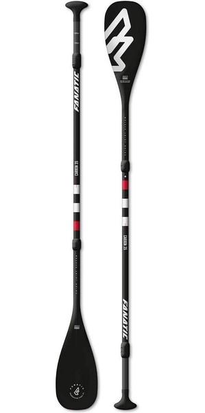 2018 Fanatic Carbon 35 Regolabile in 3 pezzi SUP Paddle 165-220cm Nero