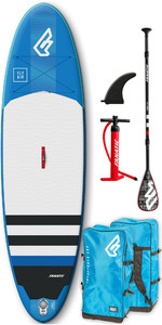 2019 Fanatic Fly Air 10'4 Aufblasbares SUP-Paket 1131 - Blau