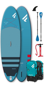 "2020 Fanatic Fly Air 10'8 ""Pack Sup Gonflable - Planche, Sac, Pompe Et Pagaie"