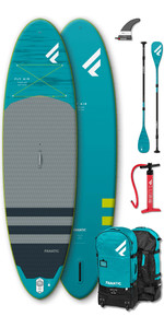 """2020 Fanatic Fly Air Premium 9'8 """"pacote Inflável Sup - Board, Bag, Pump & Carbon 35 Paddle"""