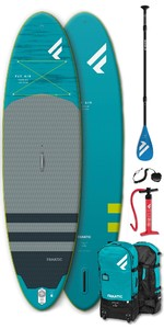 "2020 Fanatic Fly Air Premium 9'8 ""paquete Inflable Puro De Sup - Tabla, Bolsa, Bomba Y Paleta"
