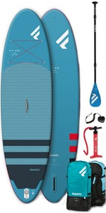 "2020 Fanatic Fly Air 9'8 ""paquete Inflable Puro De Sup - Tabla, Bolsa, Bomba Y Paleta"