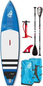 2019 Fanatic Ray Air 11'6 Touring Aufblasbares SUP-Paket 1134 - Blau