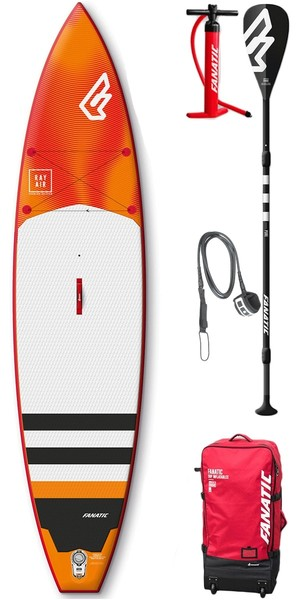 2018 Fanatic Ray Air Premium 11'6 x 31 SUP Package INC 3 Piece Carbon Paddle, Bag, Pump & Leash