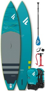 "2021 Fanatic Package Sup Air Gonflable Ray Prime 11'6"" - Bord, Sac, Pompe à Palette"