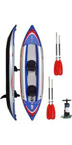 Z-pro Flash 2 Mann Hochdruck-Schlauchboot, Paddel & Pumpe Blau Fl200