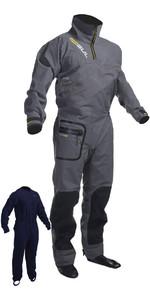 2018 Gul Shadow Mens Halo Zip Drysuit Charcoal GM0349-B3 INCLUDING UNDERFLEECE