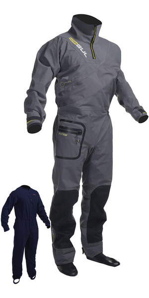 2018 Gul Shadow Mens Halo Zip Drysuit Charcoal GM0349-B3 INCLUDING UNDERFLEECE