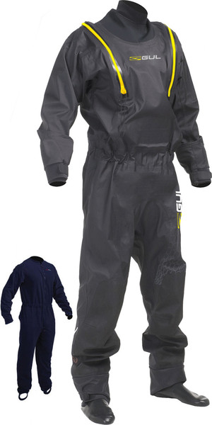 2019 Gul Code Zero Stretch U-Zip Drysuit + Pee Zip Black GM0368-B5 INCLUDING UNDERFLEECE