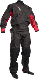 Gul Junior Dartmouth Eclip Zip Drysuit Negro / Rojo Gm0378-b3