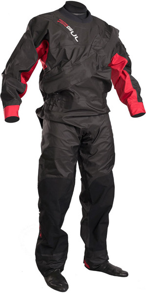 2018 GUL Junior Dartmouth Eclip Zip Drysuit BLACK / RED GM0378-B3