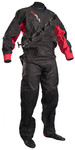 2019 Gul Dartmouth Eclip Zip Drysuit + Underfleece Gm0378-b5 - Negro / Rojo