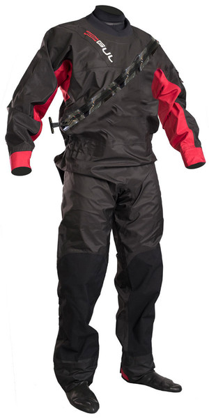 2019 GUL Junior Dartmouth Eclip Zip Drysuit NOIR / ROUGE GM0378-B5