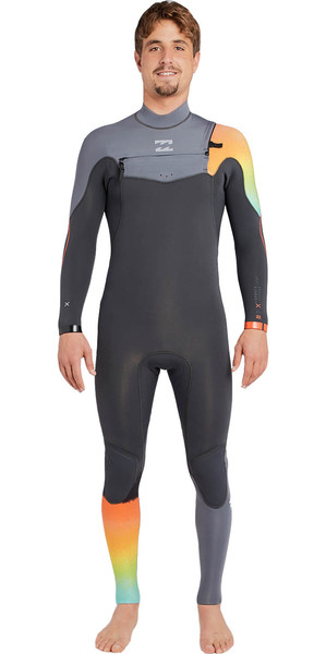 2018 Billabong Furnace Comp 3/2mm Chest Zip Wetsuit GRAPHITE F43M14