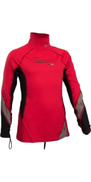2019 GUL Junior Long Sleeve Rash Vest RED / BLACK RG0344-B4