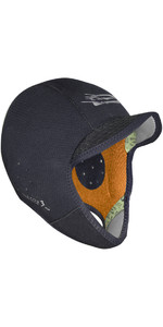 2019 Gul Peaked 3mm Bs Surf Cap Black Ho0305