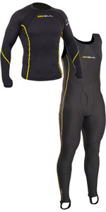 Gul Evotherm Thermal Long Sleeve Top & Long John Combi Set - Black