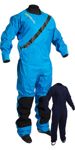 Gul Junior Dartmouth Eclip Rits Drysuit & Gratis Underfleece Blauw Gm0378-b5