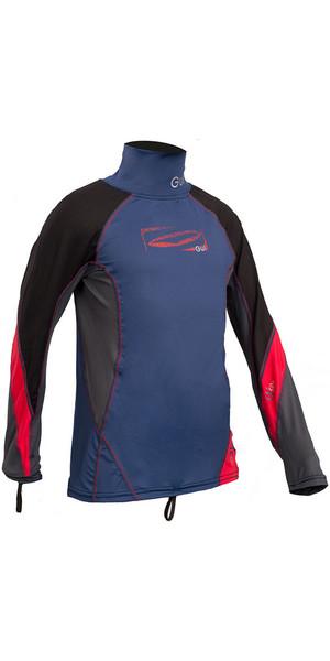 2018 GUL Junior Long Sleeve Rash Vest Blue / Red RG0344-B4
