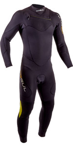 2020 Gul Dos Homens Code Zero 4/3mm Chest Zip Vela Wetsuit Cz1203 -b7 - Preto