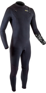 2020 Gul Heren 5/4mm Response Fx Chest Zip Wetsuit Re1242-b8 - Zwart / Camo