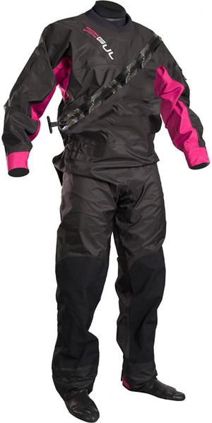 2019 GUL Womens Dartmouth Drysuit nera / rosa GM0383-B5 CON UNDERFLEECE