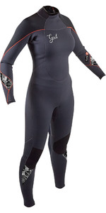 2020 Gul Response Dames 5/3mm Wetsuit Met Back Zip Re1229-b8 - Jet / Zwart