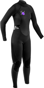 2020 Gul Women Response 3/2mm Back Zip Wetsuit Re1319-b7 - Preto