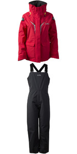 2019 Gill OS3 Junior Coastal Jacket OS31JJ e OS3 Junior Coastal Pants OS31TJ COMBI SET BRIGHT RED / GRAFITE