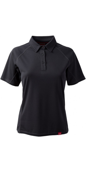 2018 Gill Womens Polo da polo UV Tec CHARCOAL UV002W