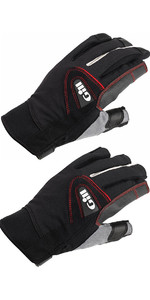 Gill Championship Long & Short Finger Sailing Gloves Package Deal Black