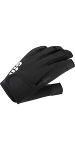 2021 Gill Championship Short Finger Sailing Gloves - Black