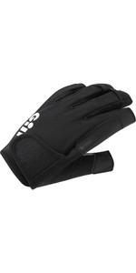 2021 Gill Championship Short Finger Sailing Gloves - Black