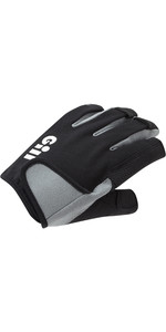 2021 Gill Deckhand Short Finger Sailing Gloves 7043-BLK01 - Black