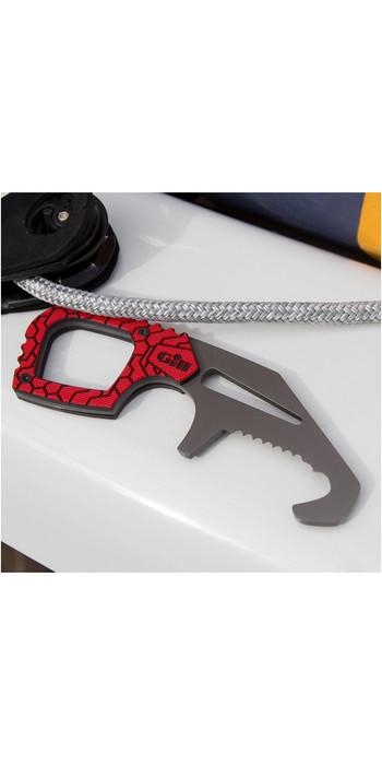 2020 Gill Geschirr Rescue - Schäkel Schlüssel + Messer Titan Mt008 Rot