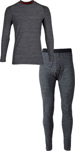 Gill Mens Crew Neck Base Layer Top & Legging Package Deal - Ash