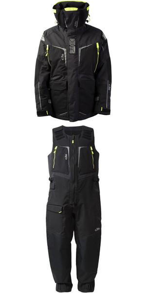 2019 Gill Hommes OS1 Offshore Ocean Jacket OS12J et Pantalon OS12T Combi Set en graphite