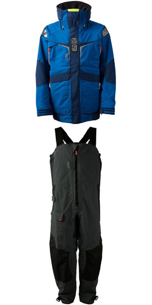 2018 Gill Mens OS2 Jacket OS23J & Trouser OS23T Combi Set Blue / Graphite