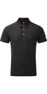 2019 Gill Hombres Uv Tec Polo Top Charcoal Uv008