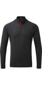 2019 Gill Mens UV Tec Zip Neck Top Charcoal UV009