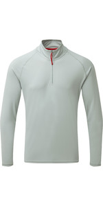 2019 Gill Mens UV Tec Zip Neck Top Grey UV009