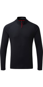 2019 Gill Herren Uv Tec Zip Neck Top Navy Uv009