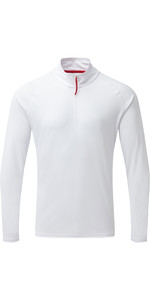 2019 Gill Mens UV Tec Zip Neck Top Branco UV009
