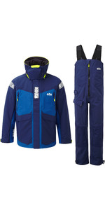 2020 Gill OS2 Mens Offshore Jacket & Trouser Combi Set - Blue