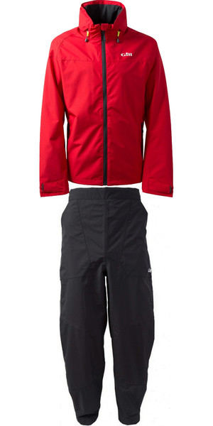 2019 Gill Pilot Jacket IN81J & Trouser IN81T Combi Set Red / Graphite