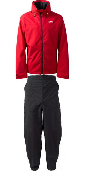 2019 Gill Pilot Jacket IN81J y Pantalón IN81T Combi Set Rojo / Grafito